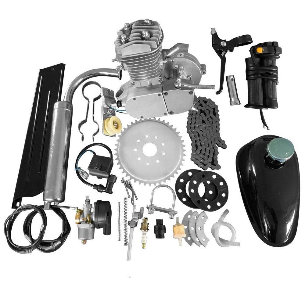 חדש לגמרי 80cc 2 שבץ מנוע מנוע ערכת DIY ממונע אופניים אופני דחיפה מלא בנזין מחזור מנוע סט באיכות גבוהה סט