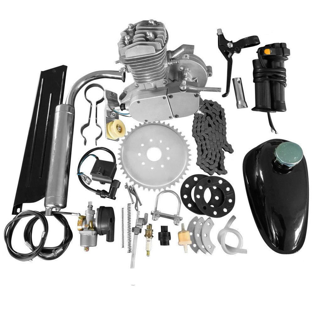 Brand New 80cc 2 Stroke Motor Engine Kit for DIY Motorized Bicycle Push Bike Complete Petrol Cycle Motor Set High Quality Set