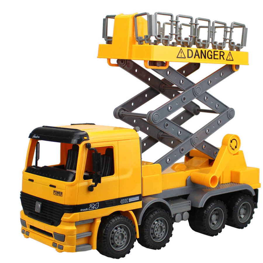 Diecasts Toy Vehicles Large 1:22 Simulation Street Lamp Car Breakdown Lorry Lifting Platform Vehicle Child's Favorite Gift Toys