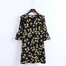c5f5c93fd4403 Buy black dress yellow flowers and get free shipping on AliExpress.com