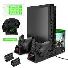 OIVO охлаждающая вертикальная подставка с двойным контроллером зарядная станция Охлаждающие вентиляторы с батареями для Xbox ONE/S/X игровая консоль