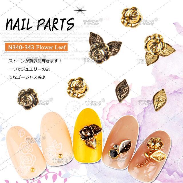 10 Stkspartij Japanse Klinknagel Stijl Glitter Nail Art Decoratie