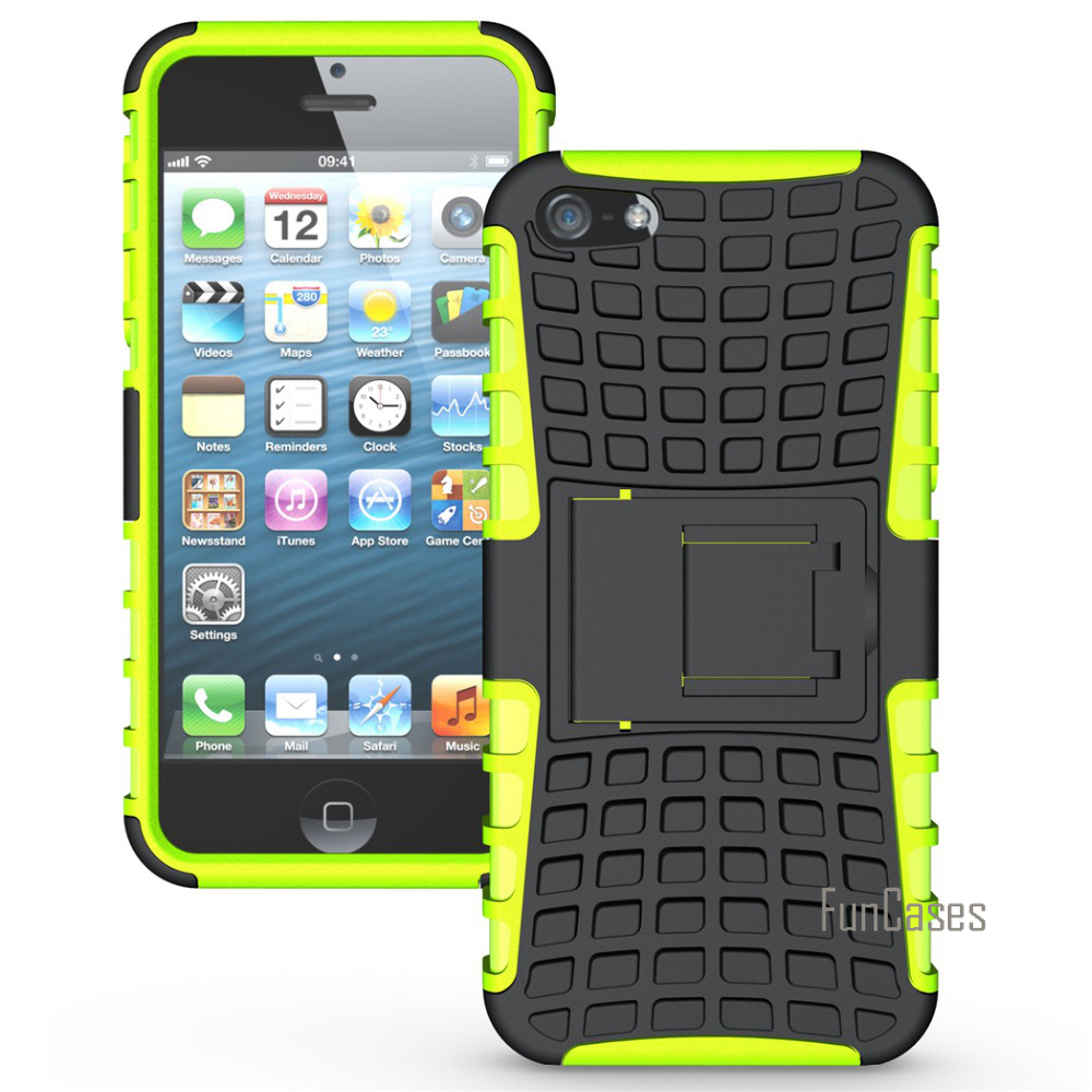 Case For Apple iPhone 5S 5 SE 5C 4S 4 Case Hybrid Kickstand Rugged Rubber Hard PC+TPU Shockproof With Stand Function Cover Cases