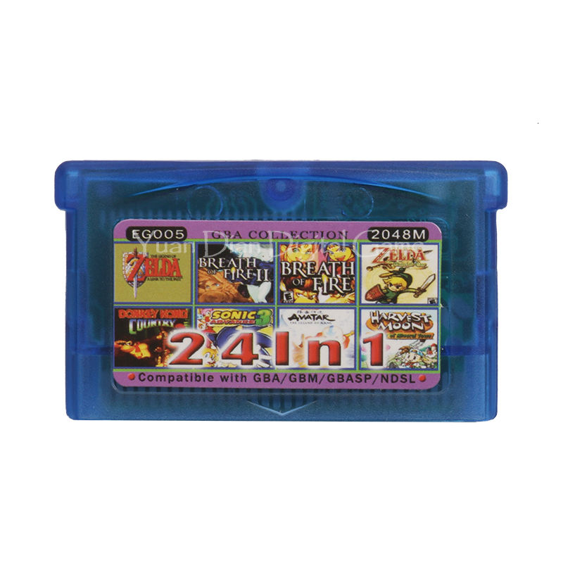 Nintendo GBA Video Game Cartridge Console Card Collection English Language EG005 24 in 1 nintendo gba gaame pokemons collective edition video game cartridge console card for game boy advance english version