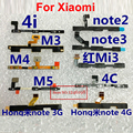 TOP Botón de Volumen Power Flex Cable para Xiaomi Power On Off volumen Arriba Abajo Conector para mi3 mi4 mi4i mi4c mi5 redmi partes