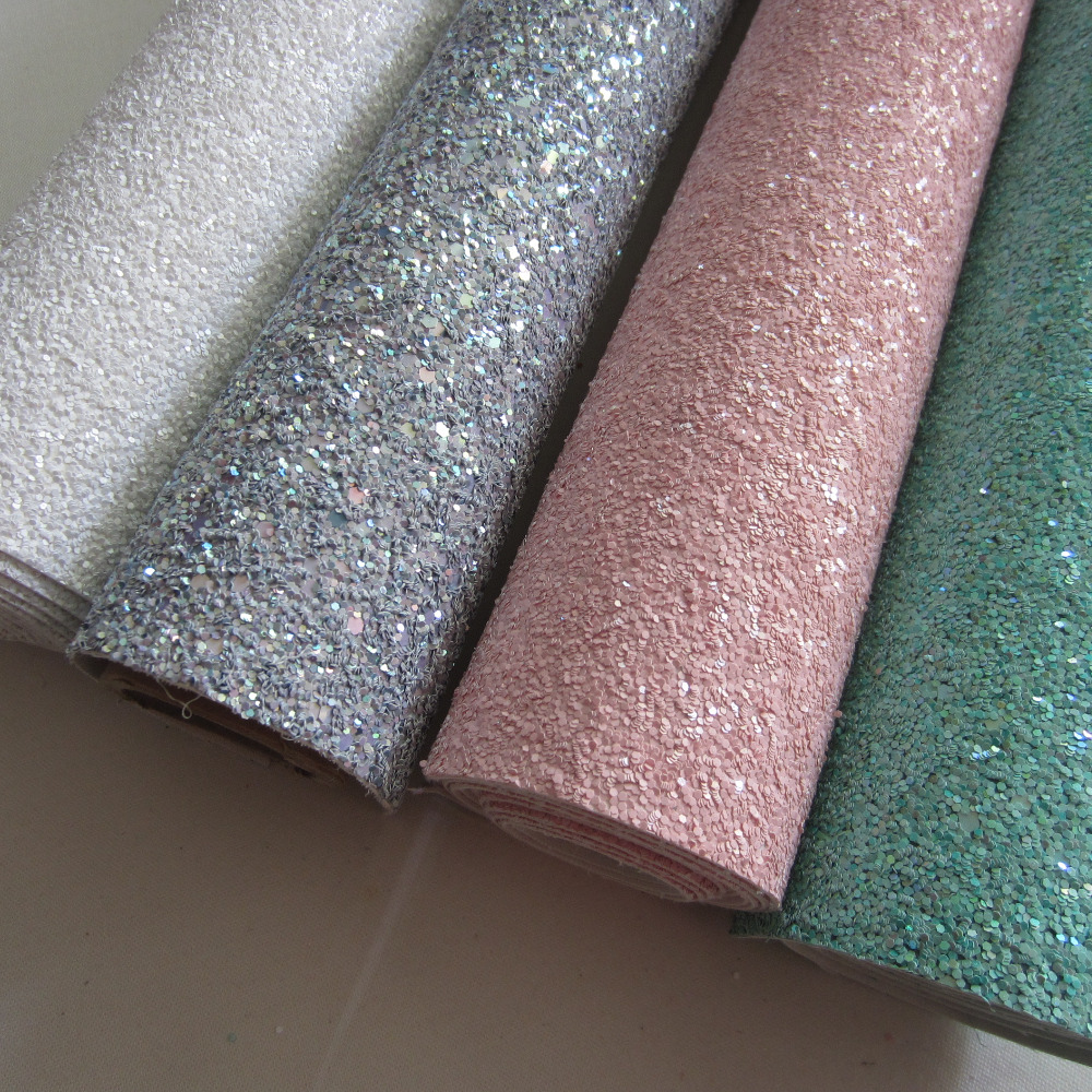 30cm X 134cm Chunky Glitter Fabric Synthetic Leather Fabric For Bows For Wallpaper Covering For Bags Shoes,DIY Decoration AY089