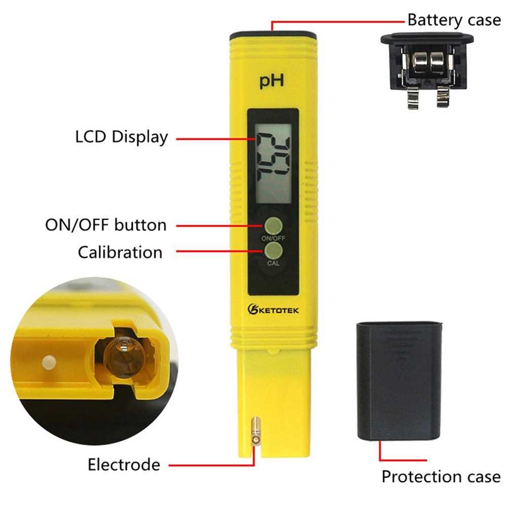 Portable Digital ATC PH Meter TDS Tester Air Akuarium Kolam Renang Anggur Urin LCD Pena PH TDS Monitor