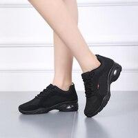USHINE 3601 3606 Summer Winter Outdoor Indoor Breath Fitness Jazz Dance Sneaker Jazz Hip Hop White Sneaker Dance Shoes Women