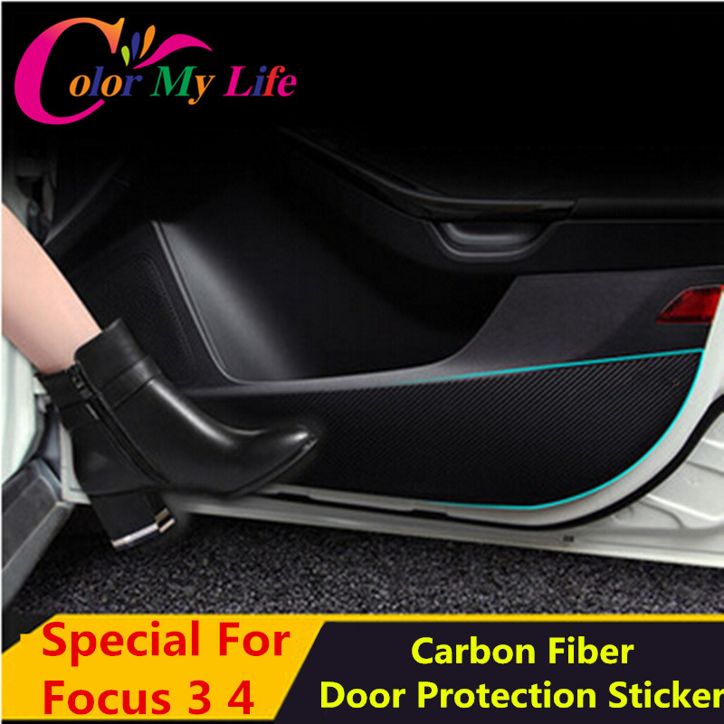 hot car door protection film inner door car protector stickers for ford focus 3 4 mk3 mk4 2012. Black Bedroom Furniture Sets. Home Design Ideas