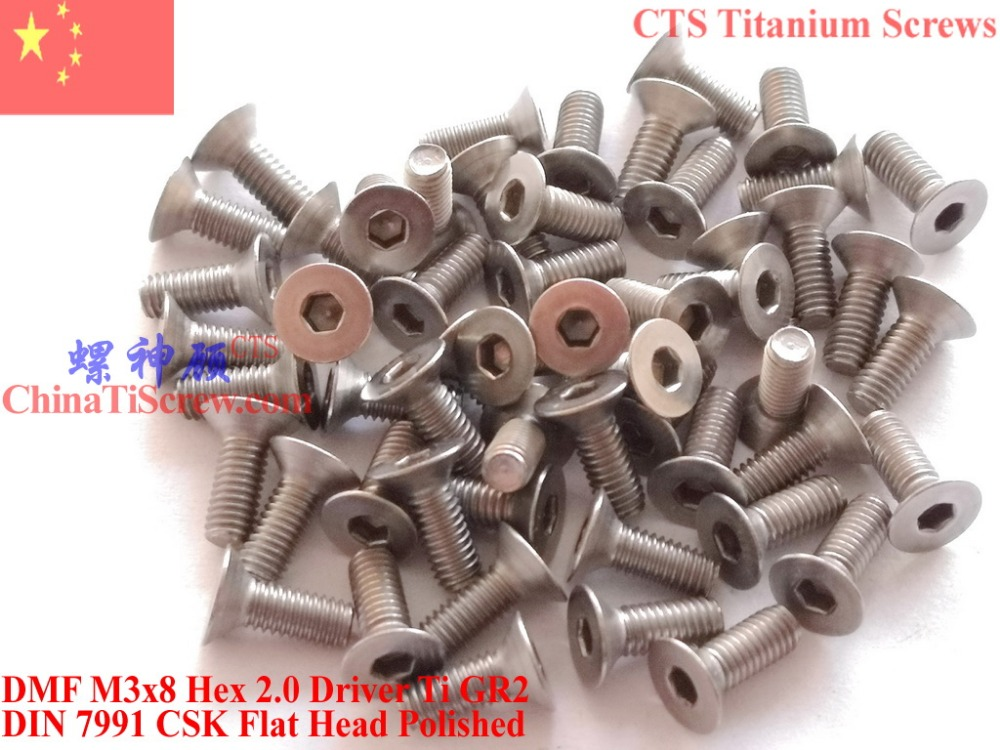 6pcs M4 *5//6//8//10//12//14//15//16//20mm Titanium Round Button Head Screws Allen bolts