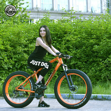 Love Freedom 7 21 24 27 Speed Mountain Bike 26 * 4 0 Fat Tire Bikes Shock Absorbers Bicycle Free Delivery Snow Bike cheap Spring Fork (Low Gear Non-damping) 0 1 m3 Unisex Aluminum Alloy Hard Frame (Non-rear Damper) Steel Front and Rear Mechanical Disc Brake