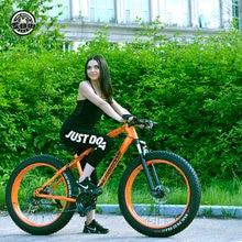 Liebe Freiheit 7/21/24/27 Geschwindigkeit Mountainbike 26*4,0 Fett Reifen Bikes Stoßdämpfer fahrrad Kostenlose Lieferung Schnee Bikke