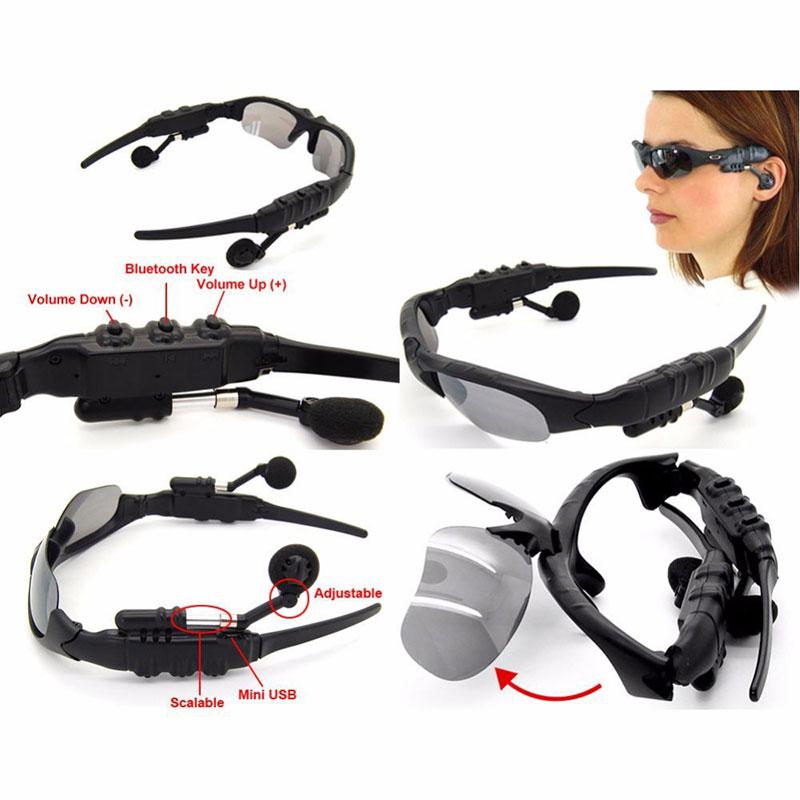 Bežični bluetooth sunglasses slušalice slušalice s mikrofonom - Prijenosni audio i video - Foto 3