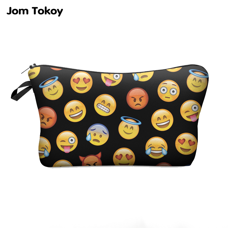 Jom Tokoy 3D Printing Fashion Women Makeup Bags With Multicolor Pattern Travel Ladies Pouch Cosmetic Bag
