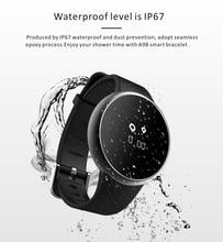 2017 nova a98 ip67 à prova d' água smart watch com bluetooth 4.0 0.66 polegada oled app para ios android phone