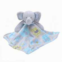 Newborn Appease Towel Baby Bear Doll 0-2years Soothing Towels Cute Infant Blankie Plush Toys Early Educational Clam Toy(China)