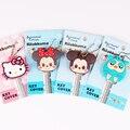 Top Quality Cute Cartoon Mickey Hello Kitty Key Cover Cap Silicone Owl Keychain Women Gift Key Chain Ring Porte Clef