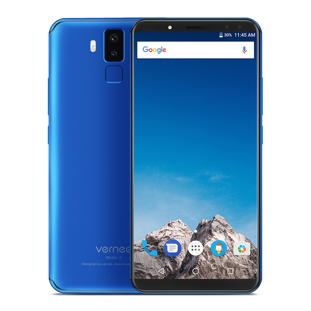 Original Vernee X 4G Face ID Mobile Phone 5.99'' Four Cams 16MP Android 7.1 6GB+128GB 6200mAh MT6763 2.0GHz Octa Core Smartphone