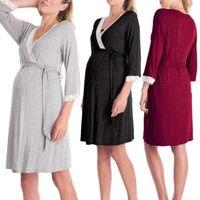 Pregnant Women Nightdress Maternity Sleepwear Feeding Chemise Sleeping Robe Dress Nightgown