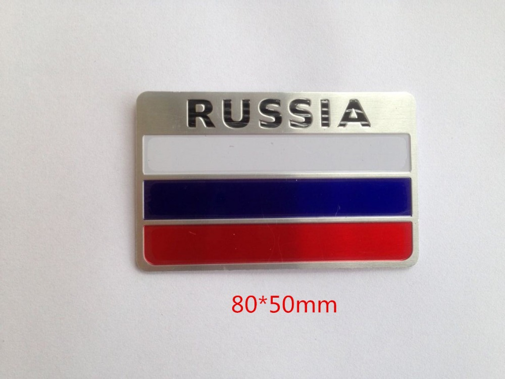 3d aluminum russia flag sticker car accessories stickers for lada volkswagen hyundai kia seat skoda