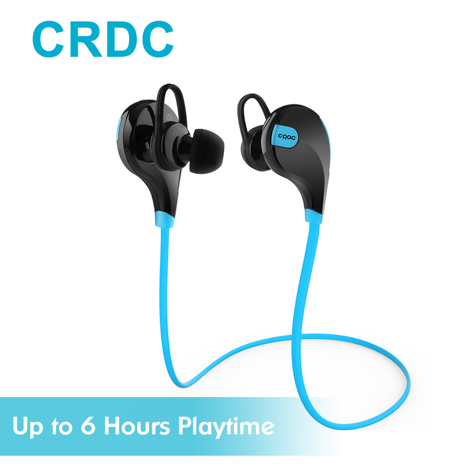 CRDC Bluetooth Headset Sport Wireless Earphones with Mic Noise Cancelling Earbuds Running Bluetooth Headphones For Xiaomi iPhone a01 bluetooth headset v4 1 wireless headphones noise cancelling with mic handsfree earpiece for driving ios android