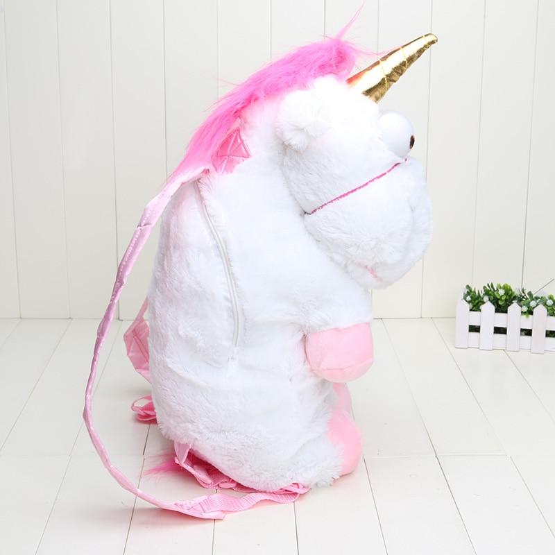 Retail 50cm Unicorn Backpack Unicorn Bag Plush Unicorns Toy Backpack