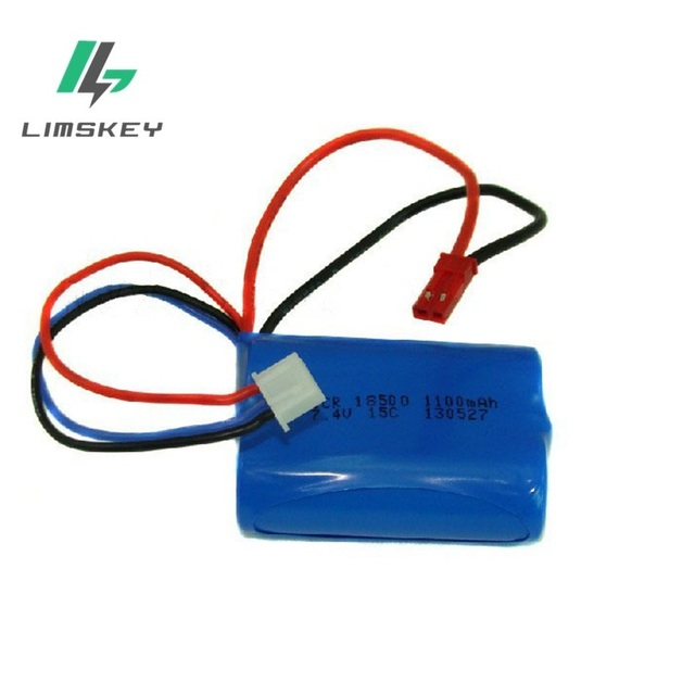 7.4V 1100mAH Remote control airplane remote control helicopter lithium battery 7.4V 1100mAH 15C discharge 18500 Cylindrical