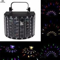 30 Вт мини бабочка этап светодиодные огни этапе Портативный RGB звук dj light Вечерние огни DMX512 Управление Рождество лазерный проектор