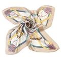 Elegante plazoleta bufanda de seda de satén para mujer cuello bandana foulard femme marca de lujo diseñador vintage print pañuelo de cuello