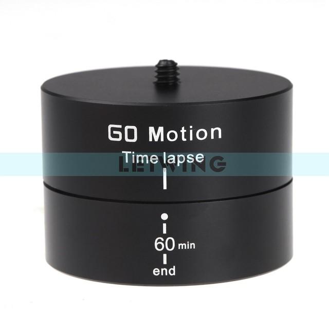 """Novo 1/4 """"360 Graus Mini Time Lapse Panning Rotating Adaptador de Tripé para Gopro DSLR Câmera Estabilizador"""