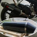 Alta calidad full carbon 51 mm de entrada universal de escape de la motocicleta de escape modificado para bn600 CB CBR GSXR Z750 K6 K7 K8 zx-10r