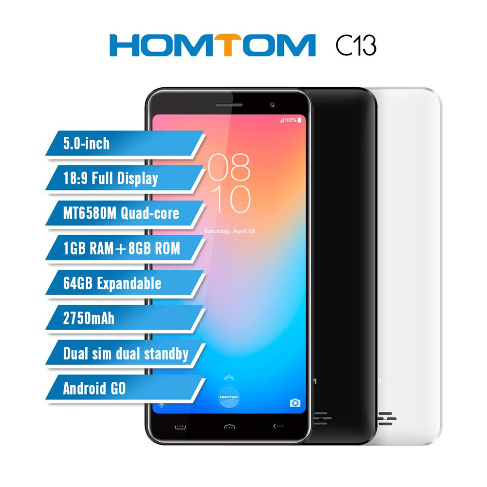 HOMTOM C13 5.0 Inch 3G Smartphone 18:9 Full Display MT6580M Quad-core 1GB RAM 8GB ROM 64GB Expandable Dual Sim Mobile CellphoneHOMTOM C13 5.0 Inch 3G Smartphone 18:9 Full Display MT6580M Quad-core 1GB RAM 8GB ROM 64GB Expandable Dual Sim Mobile Cellphone