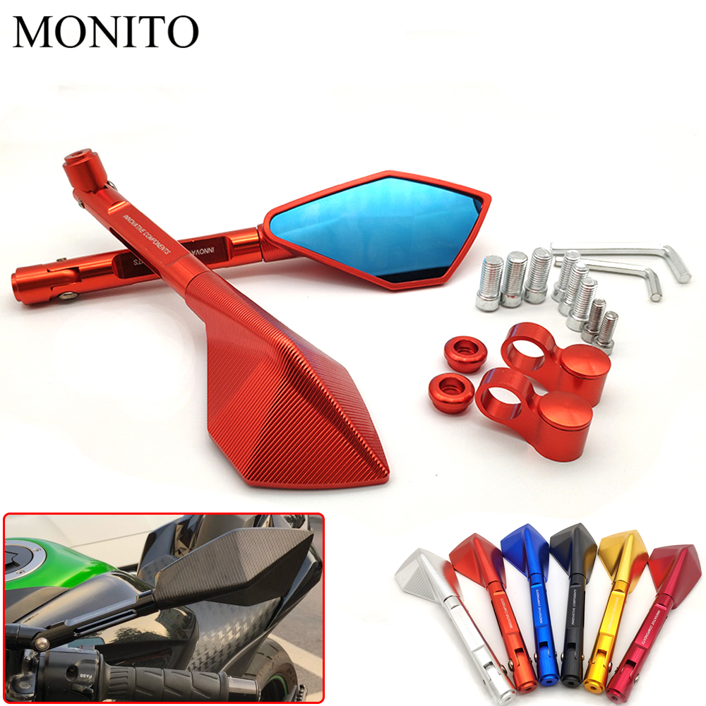Hot Universal CNC Motorcycle Rear View Mirror Motorbike Rearview Side Mirror For Honda CBF1000 VF750 SABRE VFR800 VF <font><b>750</b></font> <font><b>VFR</b></font> 800 image