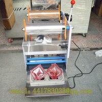 Vender Una máquina de sellado de dos cajas Semi-automática dos selladores máquina de sellado de taza automática