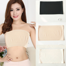 1PC Hot Lady Strapless Top Ice Silk Wrapped Chest Women Non-trace  Elasticity 3 Colors Fashion Soft Seamless