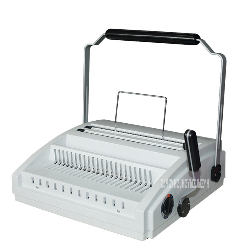 DC 2200 Manual Comb Binding Machine Multifunctional Office Tool Document Punching Machine A4 Paper Puncher Wire Binding Machine Binding Machine     - title=