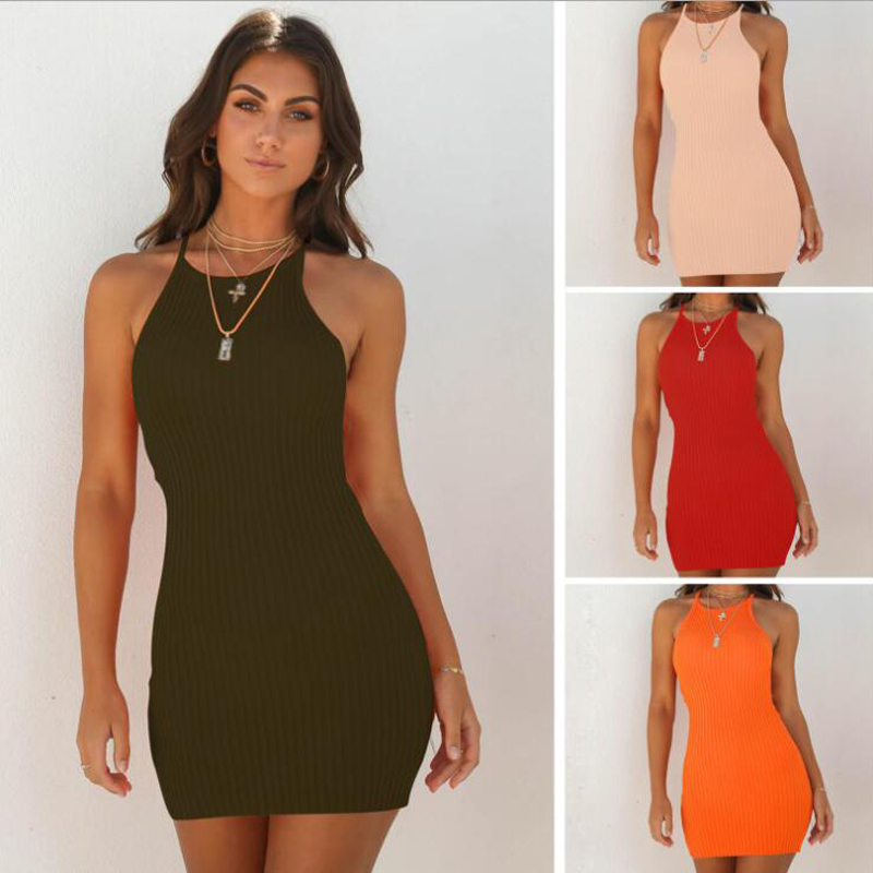 <font><b>Sexy</b></font> Suspender Dress Fashion Casual Solid Sleeveless <font><b>Sexy</b></font> Women Short Dress <font><b>Vestidos</b></font> <font><b>Verano</b></font> <font><b>2018</b></font> Summer Dress image