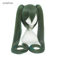 Ccutoo 120cm 47 Green Long Straight Heat Resistance Fiber Synthetic Hair Party Cosplay Costume Wigs Peluca
