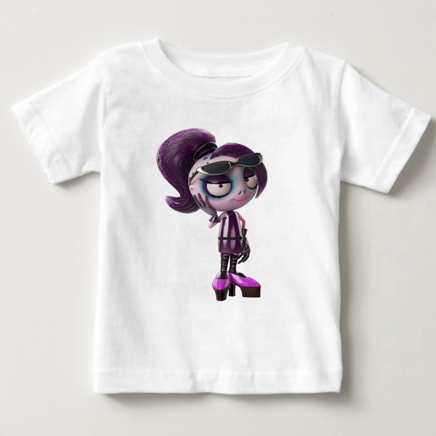 2018 Children teasing Zombies T shirt Kids Summer Tops Girls Boys Short Sleeve T shirts Cartoon Game Cute Baby Clothes MJ