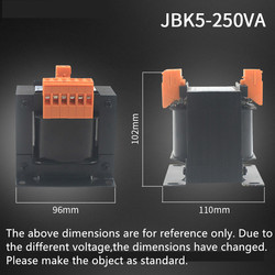 JBK5-250VA maszyna transformator sterujący 220V380V różnych 220V110V36V24V6. 3V
