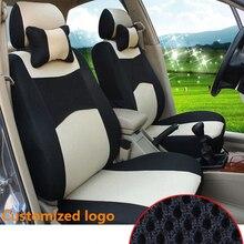 купить Hot sale Universal  Car Seat Covers For SEAT Ibiza Toledo Leon Marbella Terra Martorell BLACK/WHTIE/GRAY car accessories по цене 1696.81 рублей