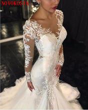 2019 свадебное платье с юбкой годе 6 слойное фатиновое длинными