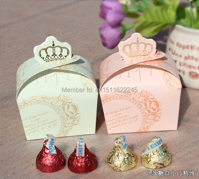 Wholesale Pink And Green Crown Map Style Wedding Paper Candy Box Baby  Shower Favors Free Shipping