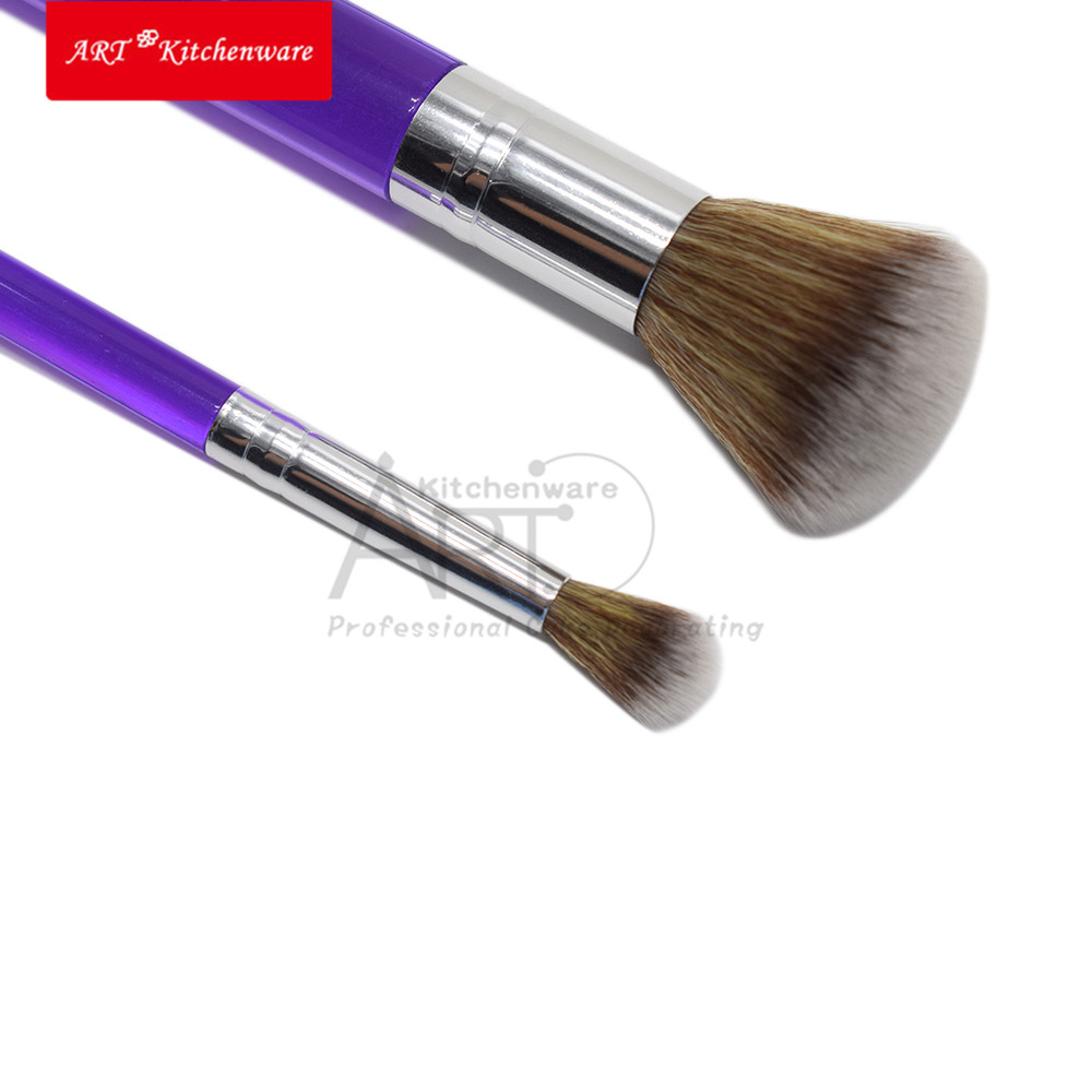 Cake Brush Set Flower Fondant Cake Decorating Pastry Tools Confectionery Tools Bakeware Modeling Tool Makeup Brush Set title=