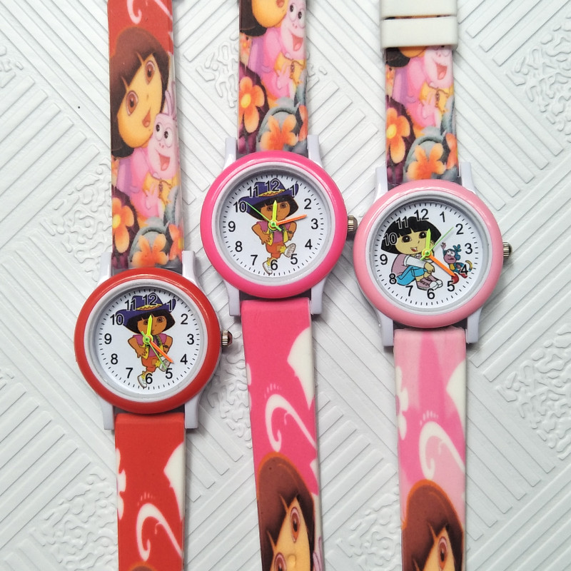 Lovely Girls Princess Children Watch Girl With School Bag Goes To School Students Clock Kids Electronic Watches Child Girls Gift