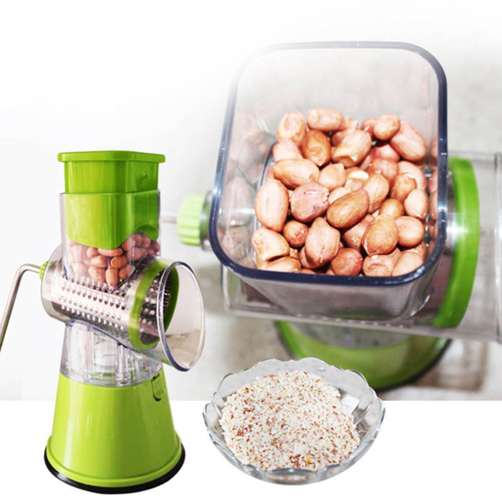 Multi function Vegetables Fruit Cutter Drum Type Manual Mandoline Slicer Shredders Grinder Stainless Steel Blades Drop Shipping