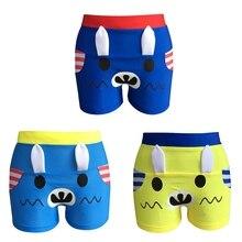 Милые плавки для мальчиков, водонепроницаемые шорты на шнурке, пляжная одежда, купальники