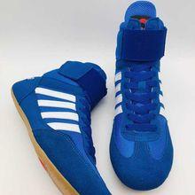 35~ 46 профессиональная боксерская борцовская обувь для wo мужчин на шнуровке тренировочные сапоги для боя мужская резиновая подошва дышащая обувь HW062