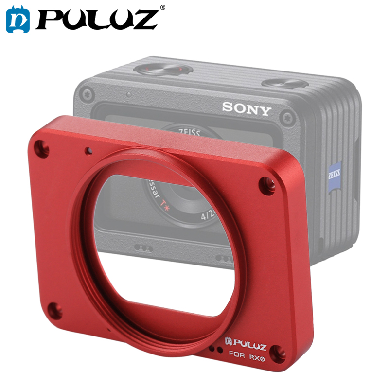 PULUZ Case For Sony RX0 Aluminum Alloy Front Panel+37mm UV Filter Lens+Lens Sunshade+Screws+Screwdrivers Housing For Sony