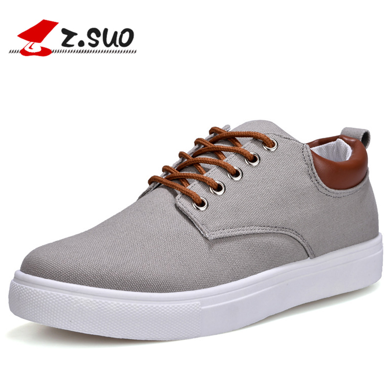 2018 Nye forårsmænd Casual Shoes Fashion Pustende Lace Up Canvas - Mænds sko